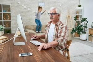 Grandpa Learning to Use Computer