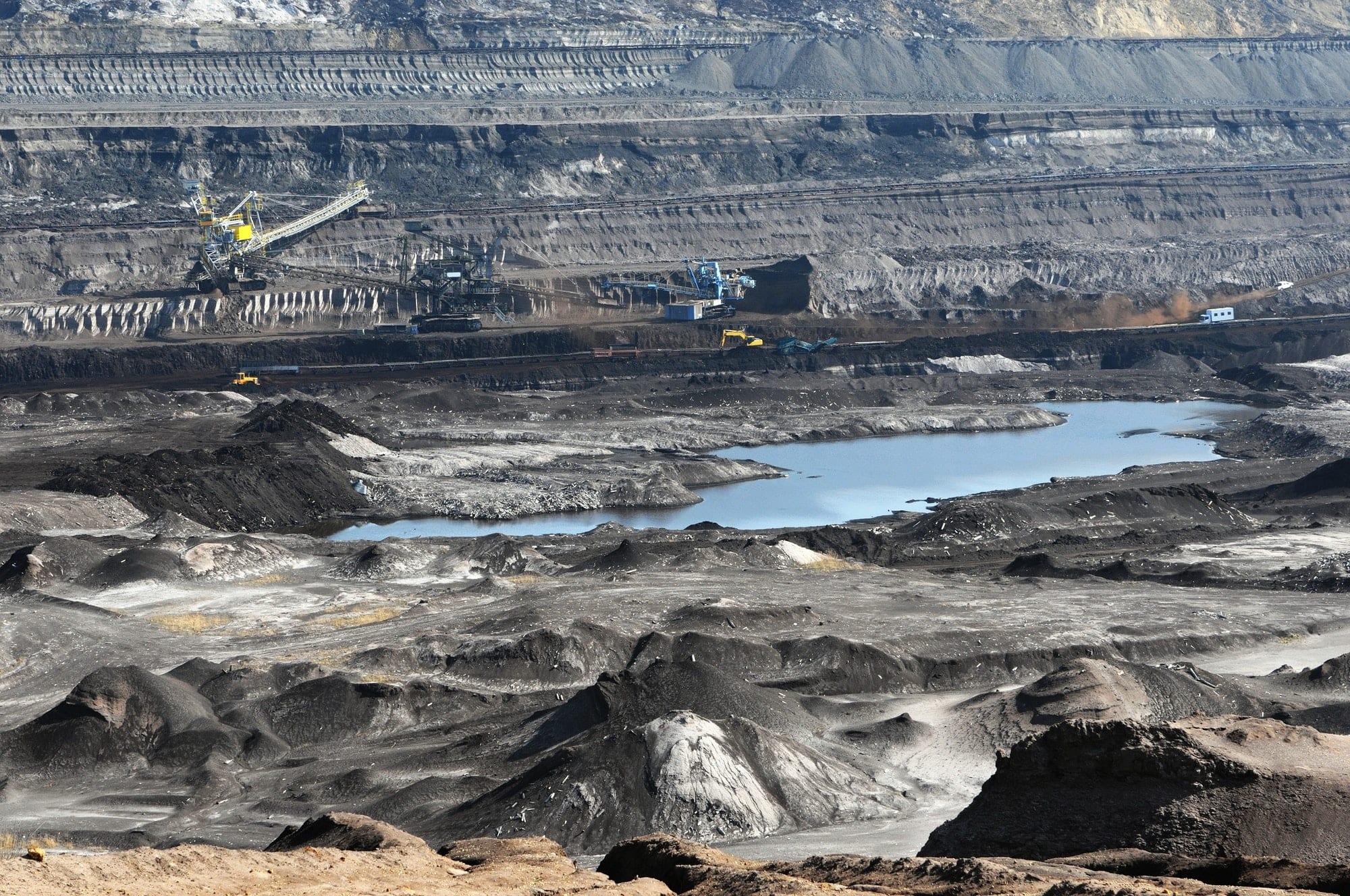 coal mine with a Bucket-wheel excavator