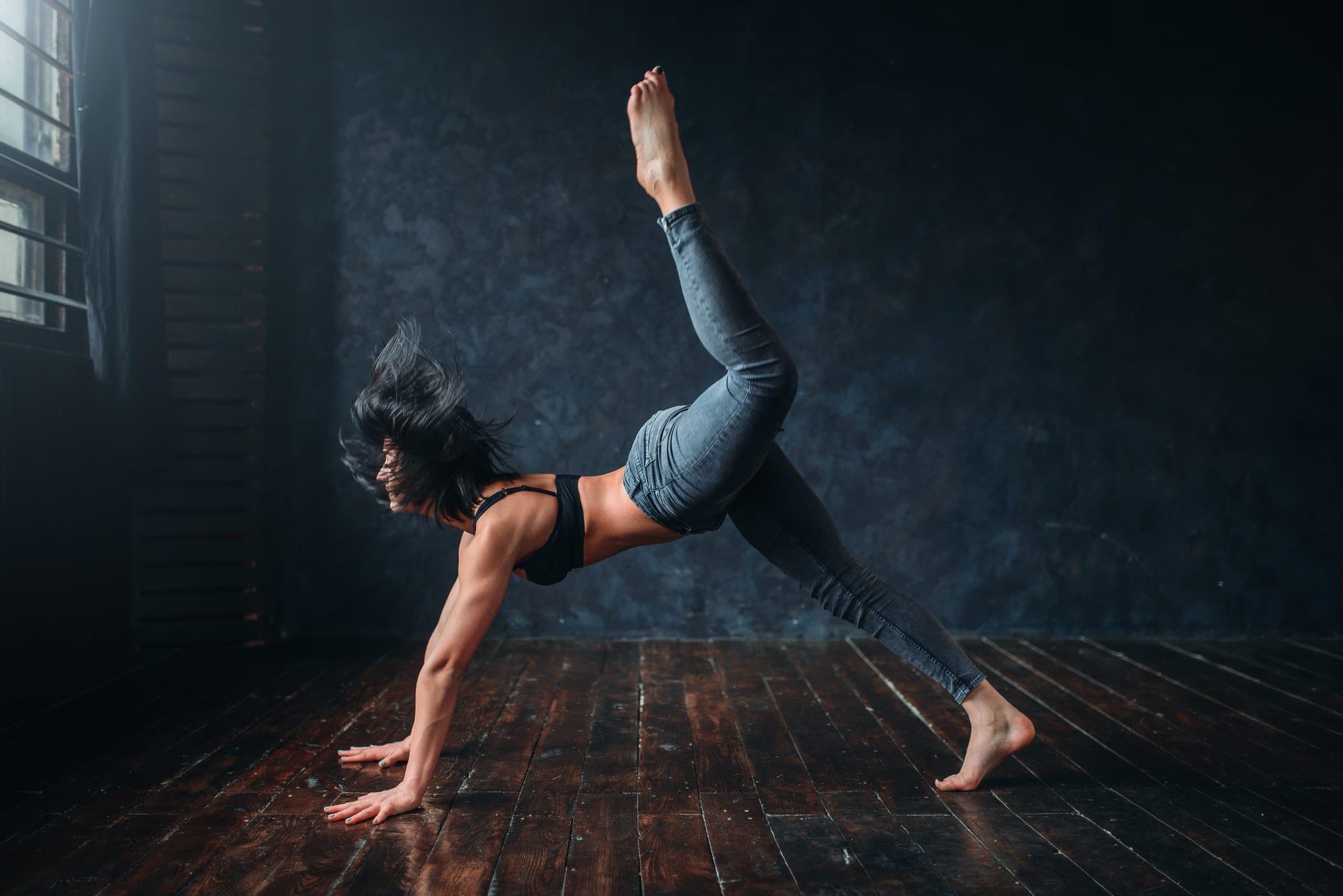 Contemporary dance, female dancer, contemp dancing