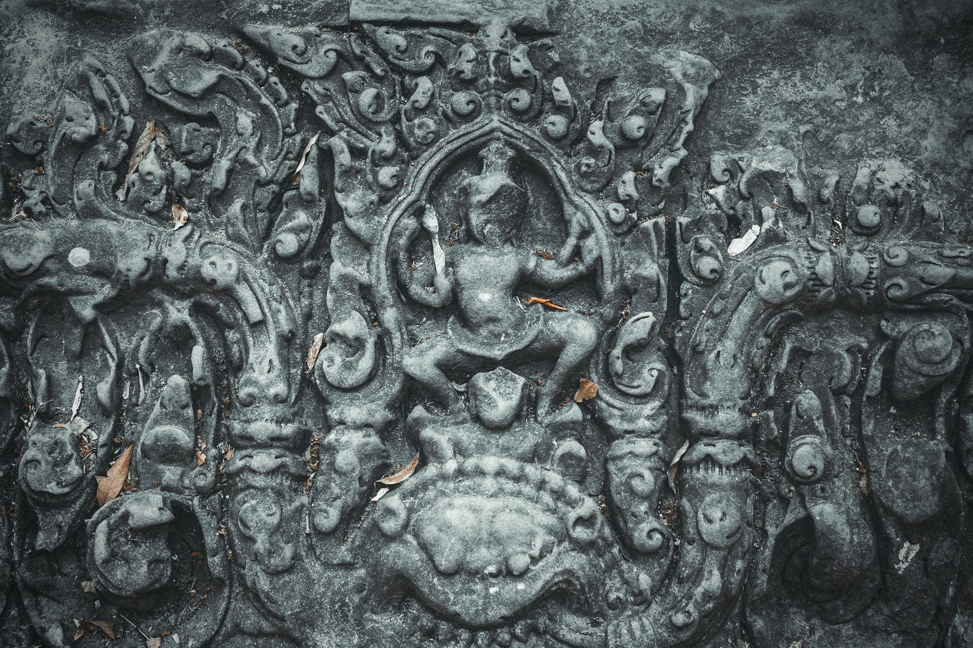 Ancient sculpture on wall