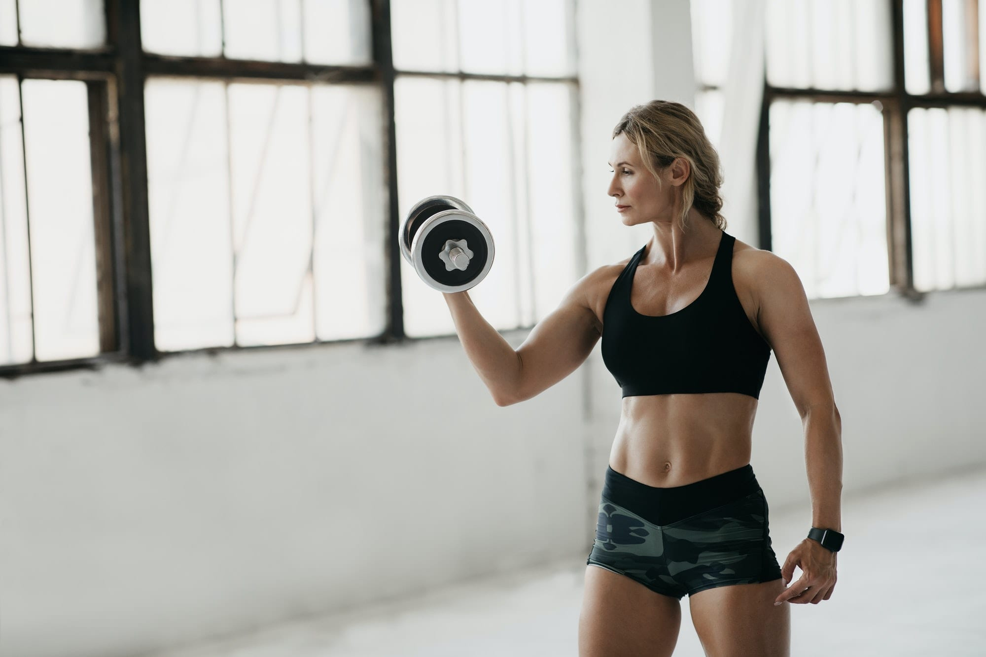 Athlete on training or online blog and home lessons