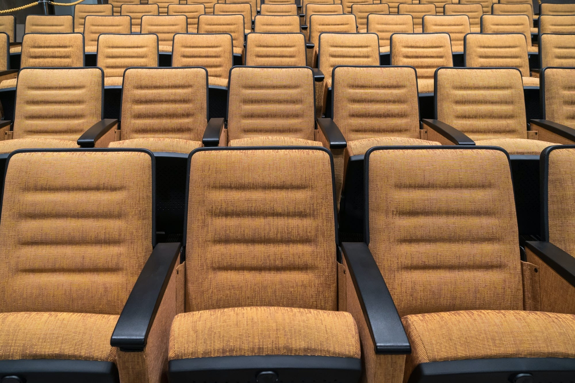 Chiars in the theater seats