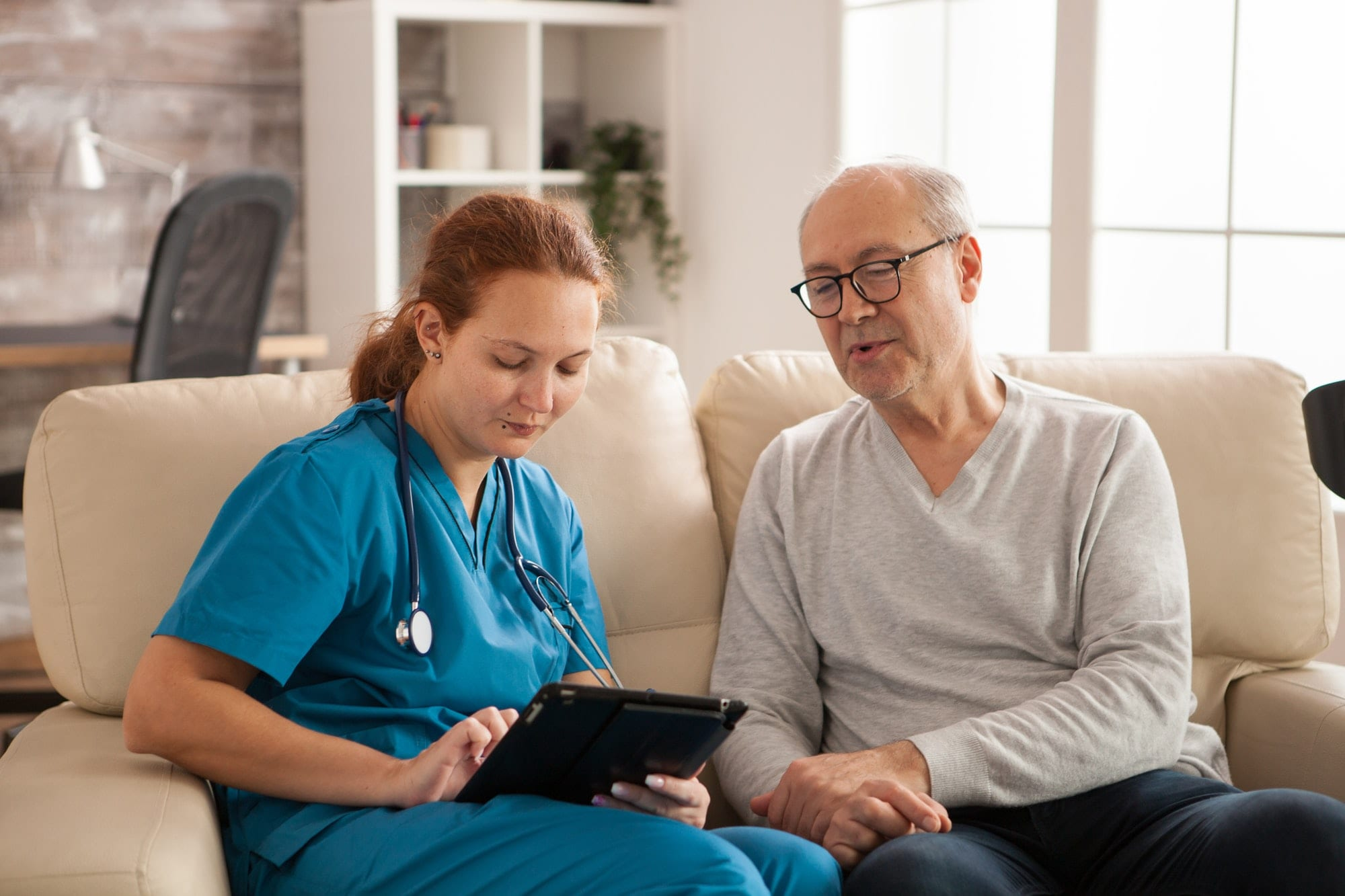 Female nurse in nursing home