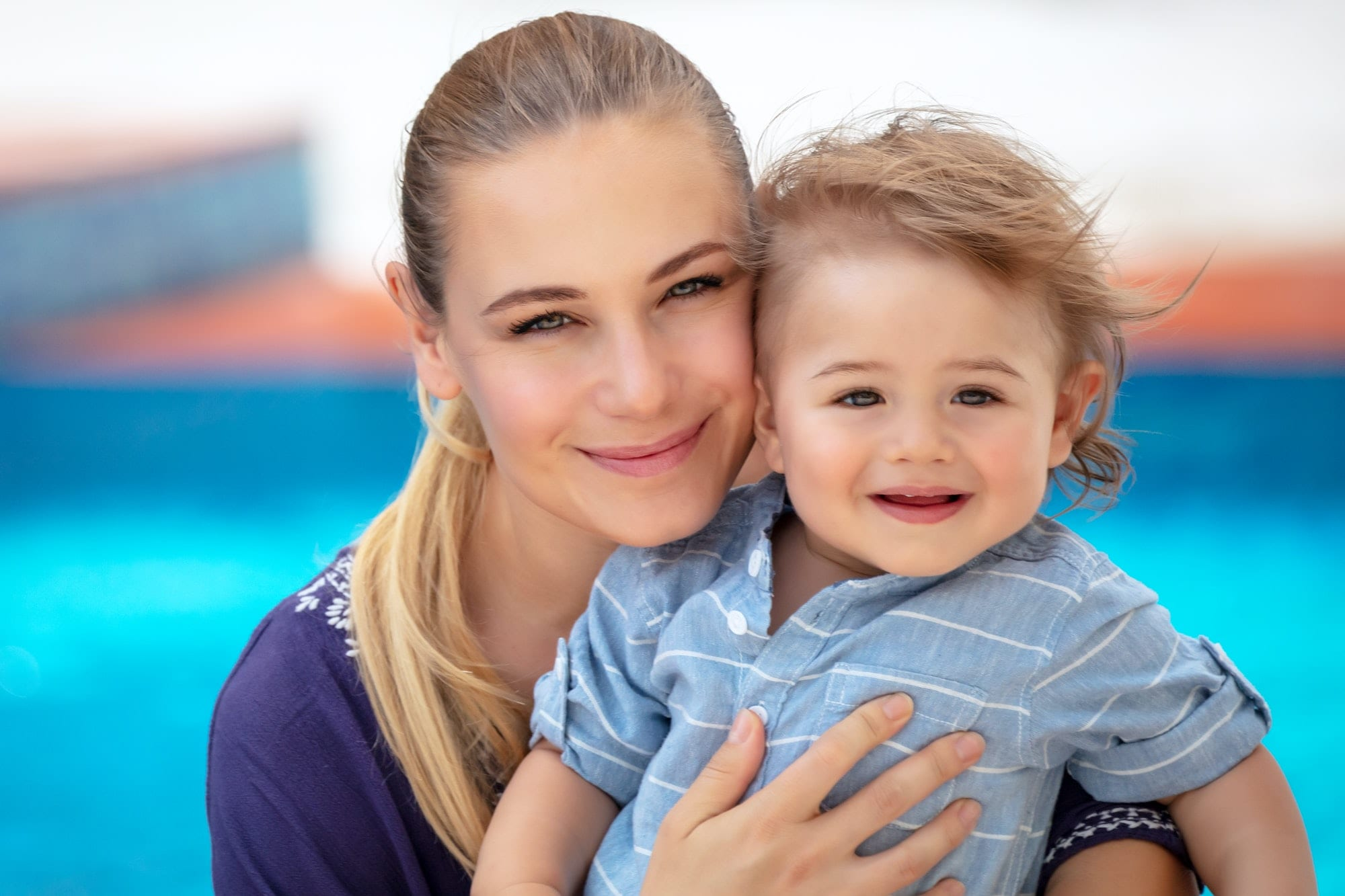 Happy mother with child