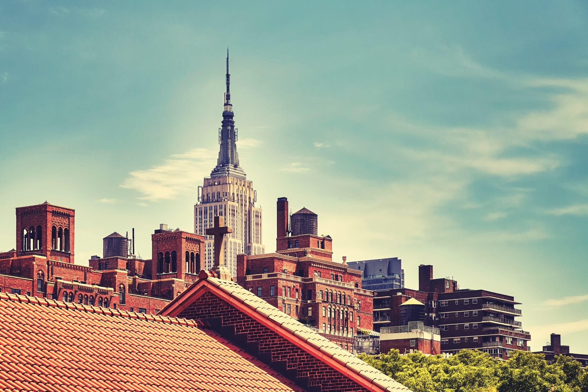 New York City skyline, USA.
