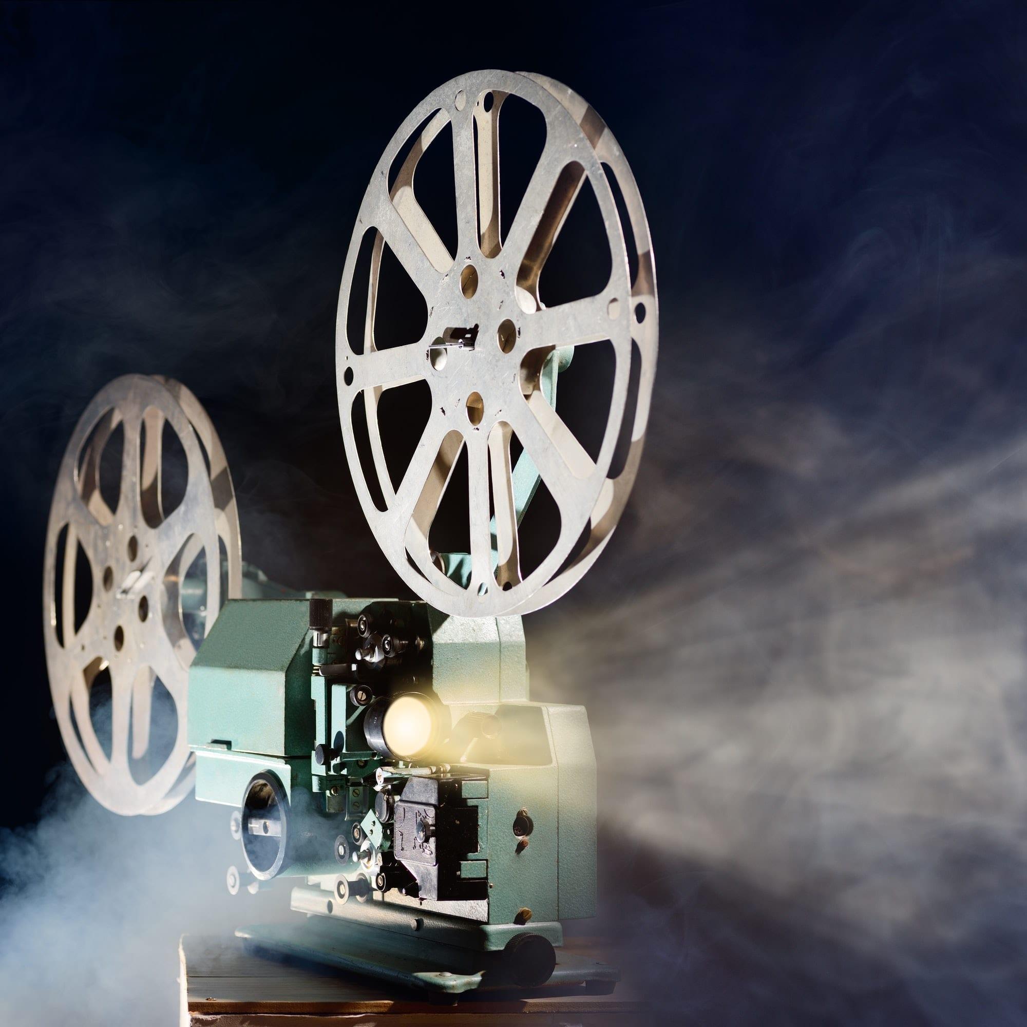 Retro movie projector
